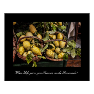 When Life Gives You Lemons Kitchen Poster