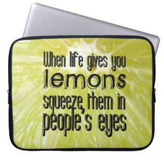 When life gives you lemons laptop computer sleeves