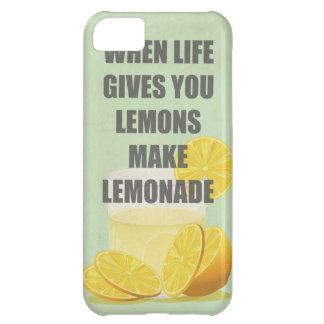 When life gives you lemons, make lemonade quotes cover for iPhone 5C