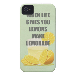 When life gives you lemons, make lemonade quotes iPhone 4 cover