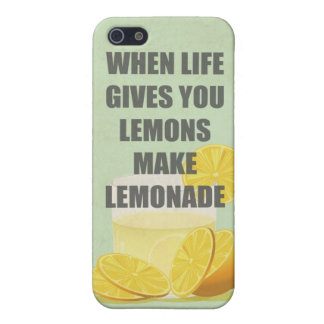 When life gives you lemons, make lemonade quotes iPhone 5 cover