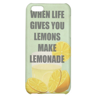 When life gives you lemons, make lemonade quotes iPhone 5C cover