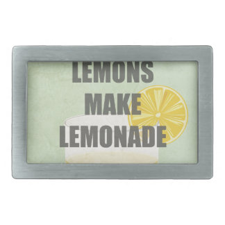 When life gives you lemons, make lemonade quotes rectangular belt buckle