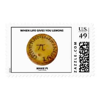 When Life Gives You Lemons Make Pi (Pi On A Pie) Postage