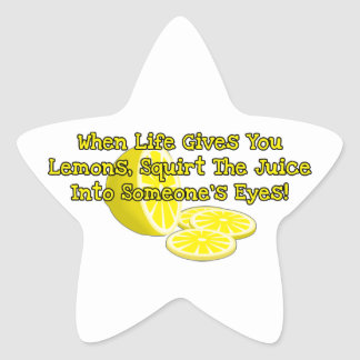 When Life Gives You Lemons Star Sticker