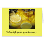 When life gives you lemons... stationery note card