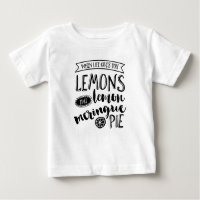 When life gives you lemons typography kids T-shirt