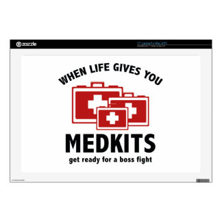When Life Gives You Medkits Decal For Laptop