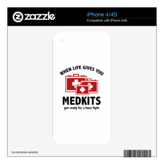 When Life Gives You Medkits Decal For iPhone 4