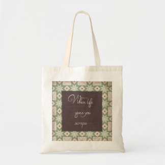 When life gives you scraps... tote bag