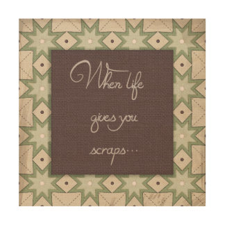 When life gives you scraps... Wood Canvas