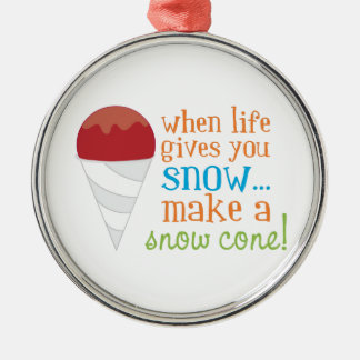 When Life Gives You Snow... Make A Snow Cone! Ornament