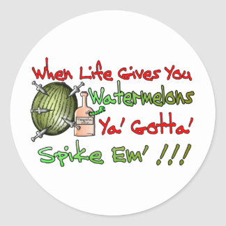 When Life Gives You Watermelons Round Sticker