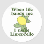 WHEN LIFE HANDS ME LEMONS CLASSIC ROUND STICKER