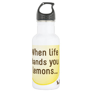 When Life Hands You Lemons. Blog About It! 18oz Water Bottle
