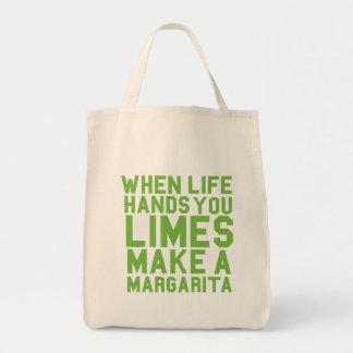 When Life Hands You Limes Make a Margarita Canvas Bag