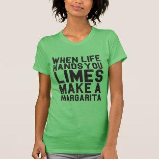 When Life Hands you Limes Make Margarita Racer Tshirts