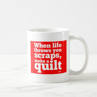 When Life Throws You Scraps - Red Mugs