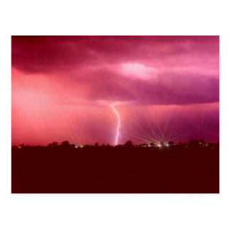 WHEN LIGHTNING STRIKES POSTCARD