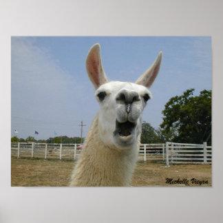 When Llamas Attack Poster