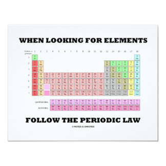 When Looking For Elements Follow The Periodic Law Card