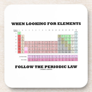 When Looking For Elements Follow The Periodic Law Drink Coaster