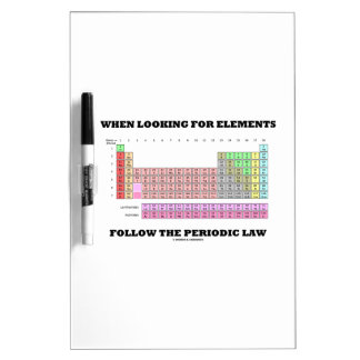 When Looking For Elements Follow The Periodic Law Dry-Erase Board