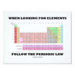 "When Looking For Elements Follow The Periodic Law 4.25"" X 5.5"" Invitation Card"
