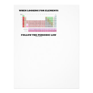 When Looking For Elements Follow The Periodic Law Letterhead