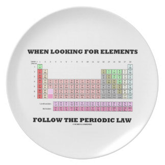 When Looking For Elements Follow The Periodic Law Melamine Plate