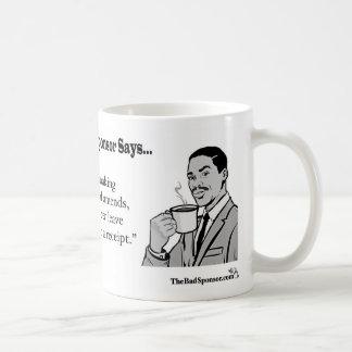 When making financial amends... coffee mug