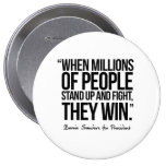 When Millions of People Stand up - Quote Pinback Button