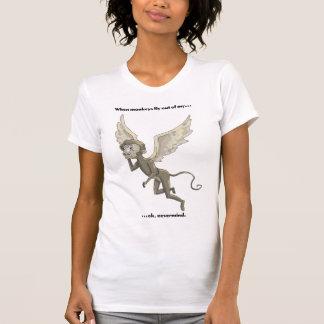 When Monkeys Fly T Shirt