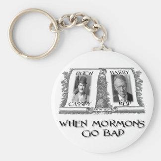 When Mormons go Bad: Harry Reid Basic Round Button Keychain