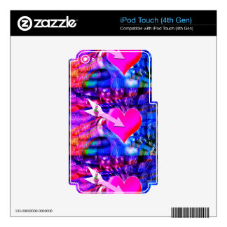 When Music arrow targeted heart Decal For iPod Touch 4G