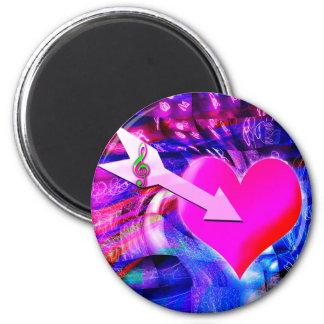 When Music arrow targeted heart Magnet