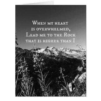 When My Heart is Overwhelmed Bible Verse Card