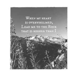 When My Heart is Overwhelmed Bible Verse Notepad