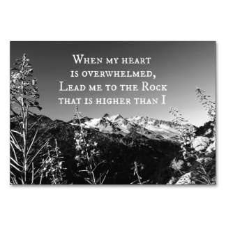 When My Heart is Overwhelmed Bible Verse Table Card
