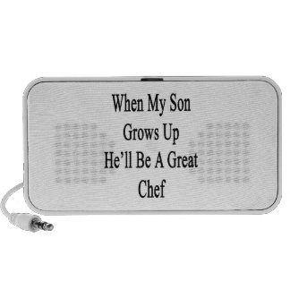 When My Son Grows Up He'll Be A Great Chef Notebook Speakers