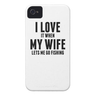 When My Wife Lets Me Go Fishing Case-Mate iPhone 4 Cases