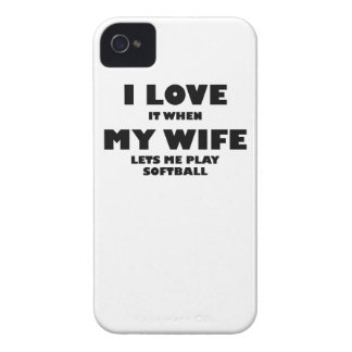 When My Wife Lets Me Play Softball iPhone 4 Cases