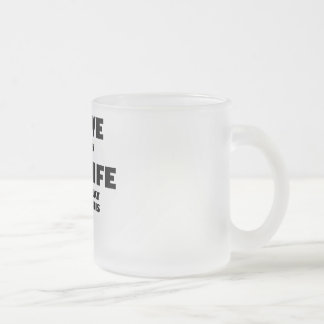 When My Wife Lets Me Play Table Tennis 10 Oz Frosted Glass Coffee Mug