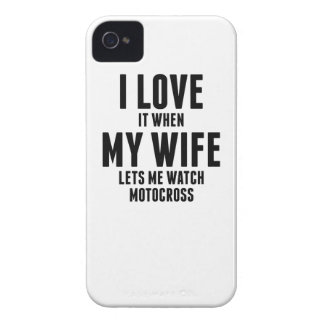 When My Wife Lets Me Watch Motocross iPhone 4 Cover