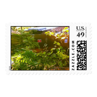 When nature starts taking over postage stamp