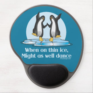When On Thin Ice Penguins Funny Design Gel Mouse Pad
