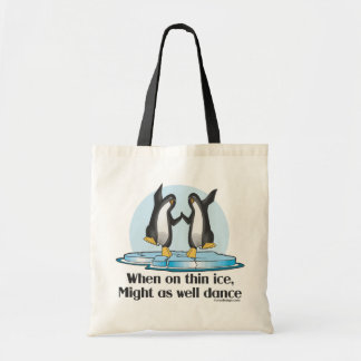When On Thin Ice Penguins Tote Bag