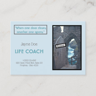 """""""WHEN ONE DOOR CLOSES ANOTHER ONE OPENS"""" BUSINESS CARD"""
