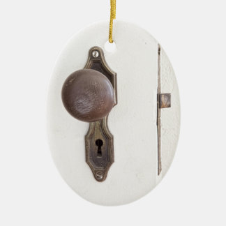When One Door Closes Another Opens Poster Ceramic Ornament