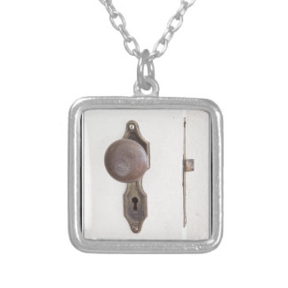 When One Door Closes Another Opens Poster Silver Plated Necklace